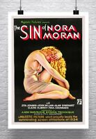 Sin Of Nora Moran Vintage 1933 Movie Poster Rolled Canvas Giclee Print 24x32 in.