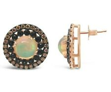 Le Vian® Earrings - Opal, Sapphire, Chocolate Diamonds® - 14K Rose Gold