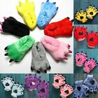 New Slippers Kigurumi Pajamas Unisex Cosplay Animal Warm Shoes & Gloves Paw Claw