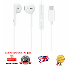 For Huawei Type C USB-C Earphones Stereo Headphones For P20 Mate 20 P30 Pro