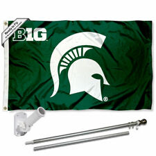Michigan State Spartans Big Ten Flag Pole and Bracket Gift Set Package