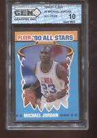 Michael Jordan 1990-91 Fleer #5 All-Star Chicago Bulls GEM MINT 10