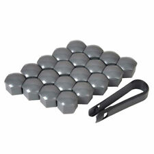 20pcs Car Wheel Nut Bolt Center Cover Gray Black Silver 17/19/21mm Caps Tool