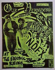 NOFX/Entropy/Our Neighbors Suck Original Concert Flyer 1985 PunK HC Rare!!