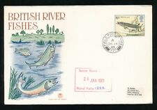 ASCENSION 1983 FIELD POST OFFICE 777 RAF FALKLANDS SUPPLY RIVER FISH 19 1/2p FDC