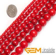 """Red Natural Coral Gemstone Round Beads For Jewelry Making 15""""2mm 3mm 4mm 5mm 6mm"""