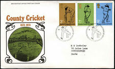 GB FDC 1973 County Cricket, Philatelic Bureau H/S #C41036