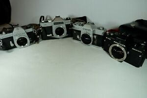 Job Lot Of Old Vintage 35mm Film Cameras CANON PENTAX CHINON  Not Working