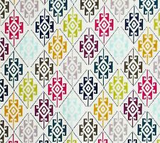 Ivory Blue Olive Magenta Sky Gray Aztec South West Style Geometric By The Yard