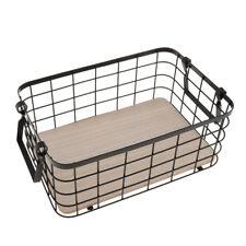 Nordic Storage Basket Iron Wire Desktop Snack Fruits Baskets Organizer Black