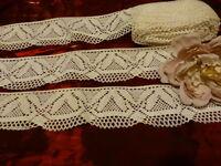 neuve coton ,blanc cassé  ancienne et large  dentelle2,mx7cm