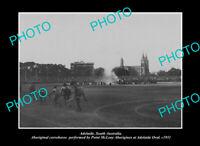 OLD LARGE HISTORIC PHOTO ADELAIDE SOUTH AUSTRALIA ABORIGINAL CORROBOREE c1911