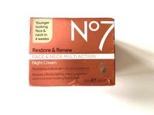 No7 Restore & Renew Face & Neck MultiAction NIGHT Cream - 50ml