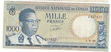 Congo - 1000 Francs, 1964