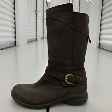 Merrell Espresso Leather Mid Calf Boots 1577751 Brown Zip Up Womens Size 8 Shoes