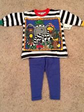 Girls Zoodles Day at the Zoo 2 pc Outfit Size 2T NWT