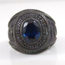 Vintage Sterling Silver 1973 Newton Street School Class Ring Size 10 LFB4