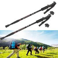 Pair 2 Trekking Walking Hiking Sticks Poles Alpenstock Anti-shock 65-135cm