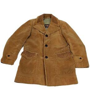 Vintage CORTEFIEL Mens L Brown Corduroy Sport Coat Blazer Spain Jacket Nice!