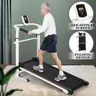 Folding Manual Treadmill Walking Machine Cardio Fitness Exercise Incline Home