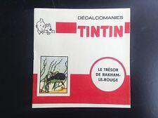 Carnet Decalcomanie Tintin Le Trésor  DAR Complet ETAT NEUF Decalco