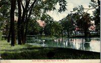 South Bend Indiana River Scene on the St. Joe 1910 Vintage Postcard AU1