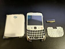 Blackberry Curve 3G 9300 White Housing w/ Faceplate/Screen Lens/Back Door/Keypad