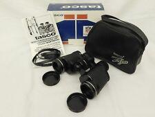 TASCO ZIP 2001 7X35 BINOCULARS NFL SUPPLIER BOX LEATHER BAG 1982 VINTAGE