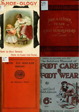 68 RARE BOOKS ON BOOTS, SHOES & SHOE-MAKING, VINTAGE PATTERNS CRAFT STYLE ON DVD