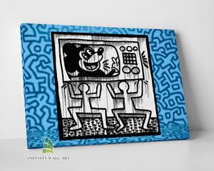 MICKEY MOUSE Keith Haring Canvas Art Pop Art Wall Art Abstract Print Disney-C878