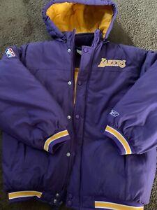 Reebok Lakers Puffer Jacket Youth Large 14/16