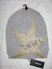 76b2e184500 BNWT - DIESEL Ribbed Slouch Beanie Hat Grey