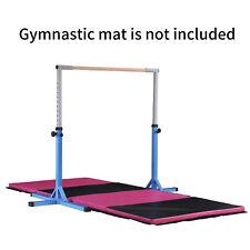Blue Gymnastics Training Horizontal Bar Sports Equipment Home Kids Adjustable