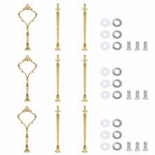 3 Sets Schrauben und Stange Set für Etagere Goldfarbe, Serie SWEET.TIME