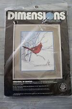 DIMENSIONS Paul Sweany CARDINAL IN WINTER Counted Cross Stitch Kit