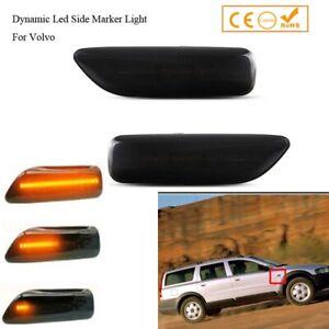 For Volvo S60 S80 MK1 V70 XC70 XC90 Dynamic LED Side Marker lights Signal Lamp