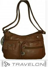 Hobo Bag, Shoulder, Travelon Designer Handbag, Multi Pockets, Hazelnut Purse