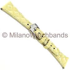 20mm Glam Rock High Quality Hand Made Patent Vanilla Matelasse Calf Watch Band