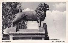 Braunschweig , Der Löwe im Burghof  , Ansichtskarte, beschriftet
