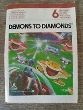 Notice Démons To Diamonds Atari 2600