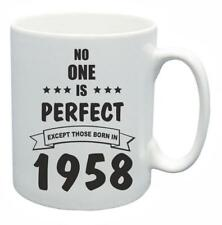 60th Novelty Birthday Gift Present Tea Mug No One Is Perfect 1958 Coffee Cup