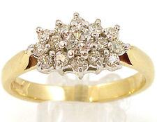 Cluster Round SI2 Fine Diamond Rings