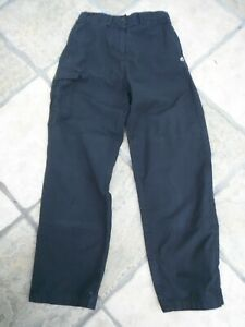 CRAGHOPPERS BLACK CARGO HIKING TROUSERS, SIZE 10