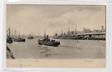 SHIPPING ON THE CLYDE: Glasgow transparancy hold to light postcard (C27028)