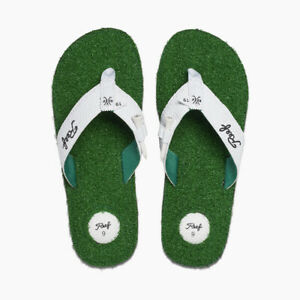 Reef Men's Mulligan II 19th Hole Flip Flops Sandals - Green NWT