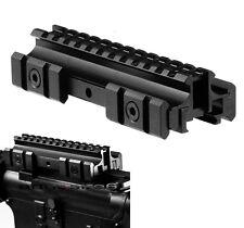 Tactical Riser Rifle Base Mount See-Thru Flat Top Tri-Rail 20mm Picatinny Weaver
