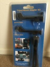 Tripod Mount Adapter Kit iPhone 5 & 5S iPhone 4 & 4S NEW