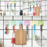 Self Adhesive Clothes Hook No Drill Wooden Wall Mounted Key Towel Hangers YL