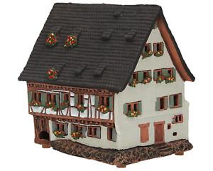 Ceramic Tealight Candle Holder Schiefes Haus in Ulm 12 cm © Midene