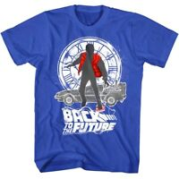Back to The Future Marty McFly Men's T Shirt Hoverboard Clock Silhouette Fox Top